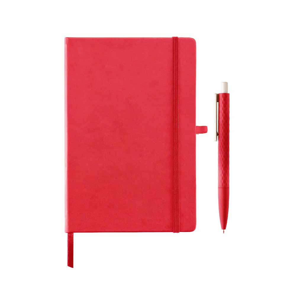 LIBELLET Giftology A5 Notebook With Pen Set (Red)