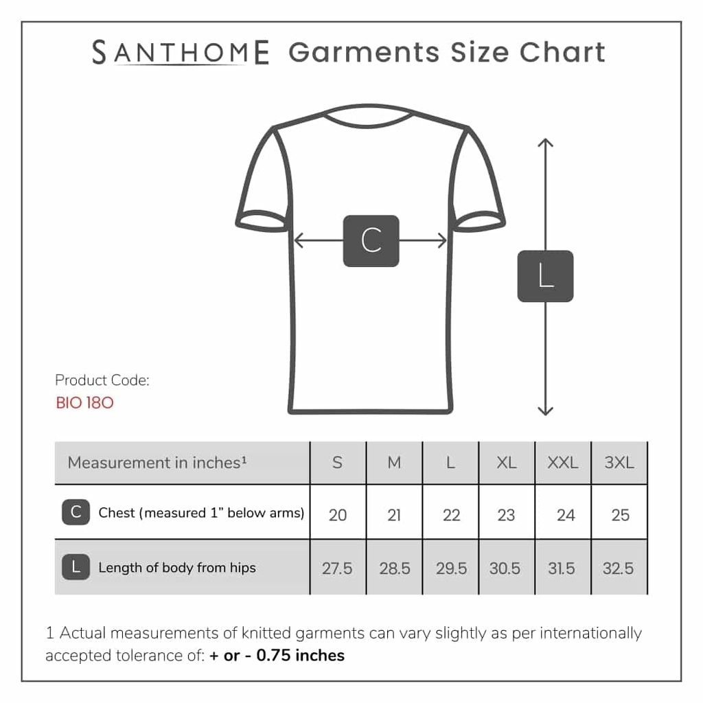 BIO ONE80 - SANTHOME - Roundneck T-shirt