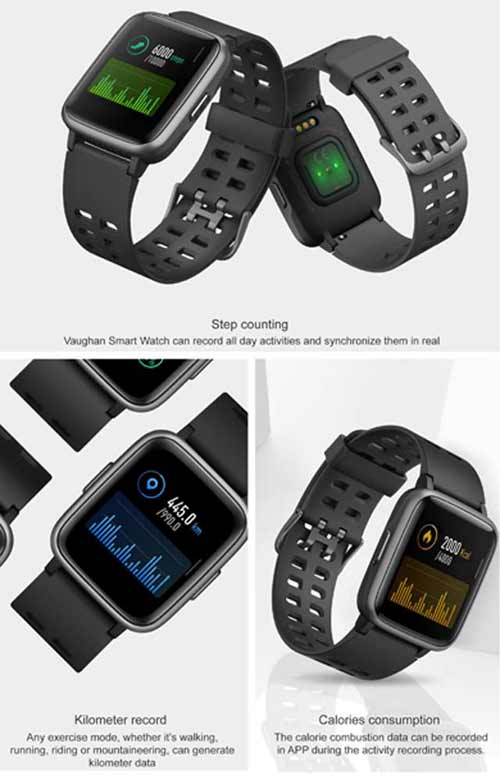 VAUGHAN - @memorii Fitness Smart Watch