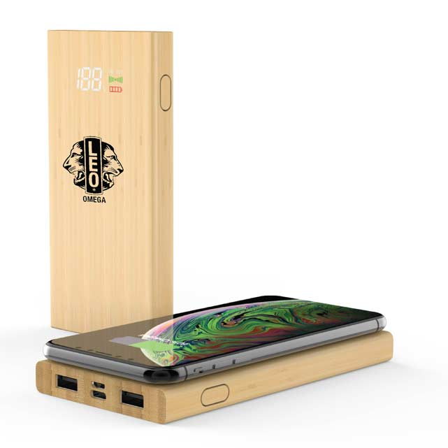 COMRAT - @memorii 6000 mAh Bamboo Wireless Powerbank