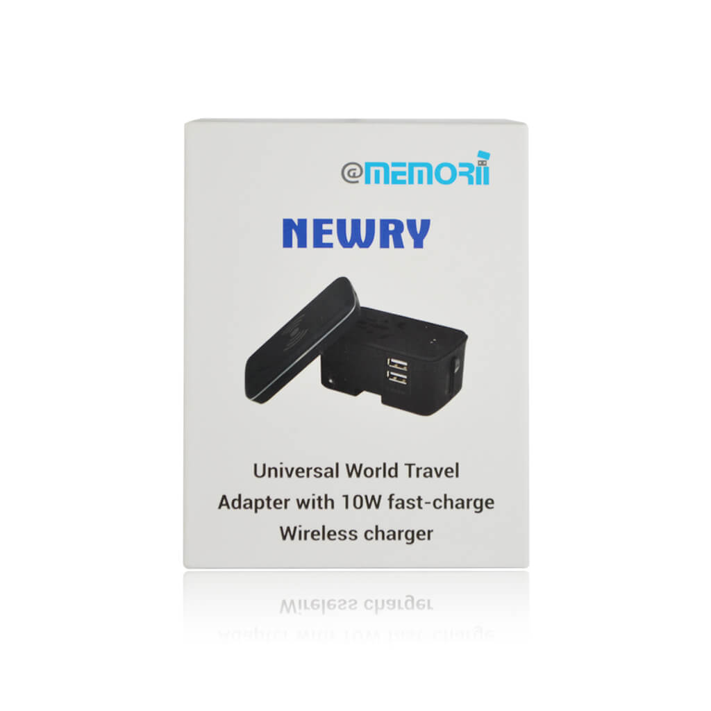 NEWRY - @memorii Travel Adapter With Wireless Charger