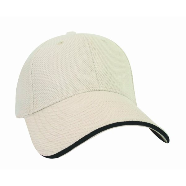 SANTHOME Performance Sports Caps - Cream / Black
