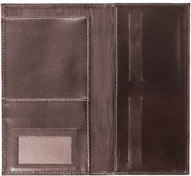 SANTHOME Genuine Leather Travel Wallet Made in Germany