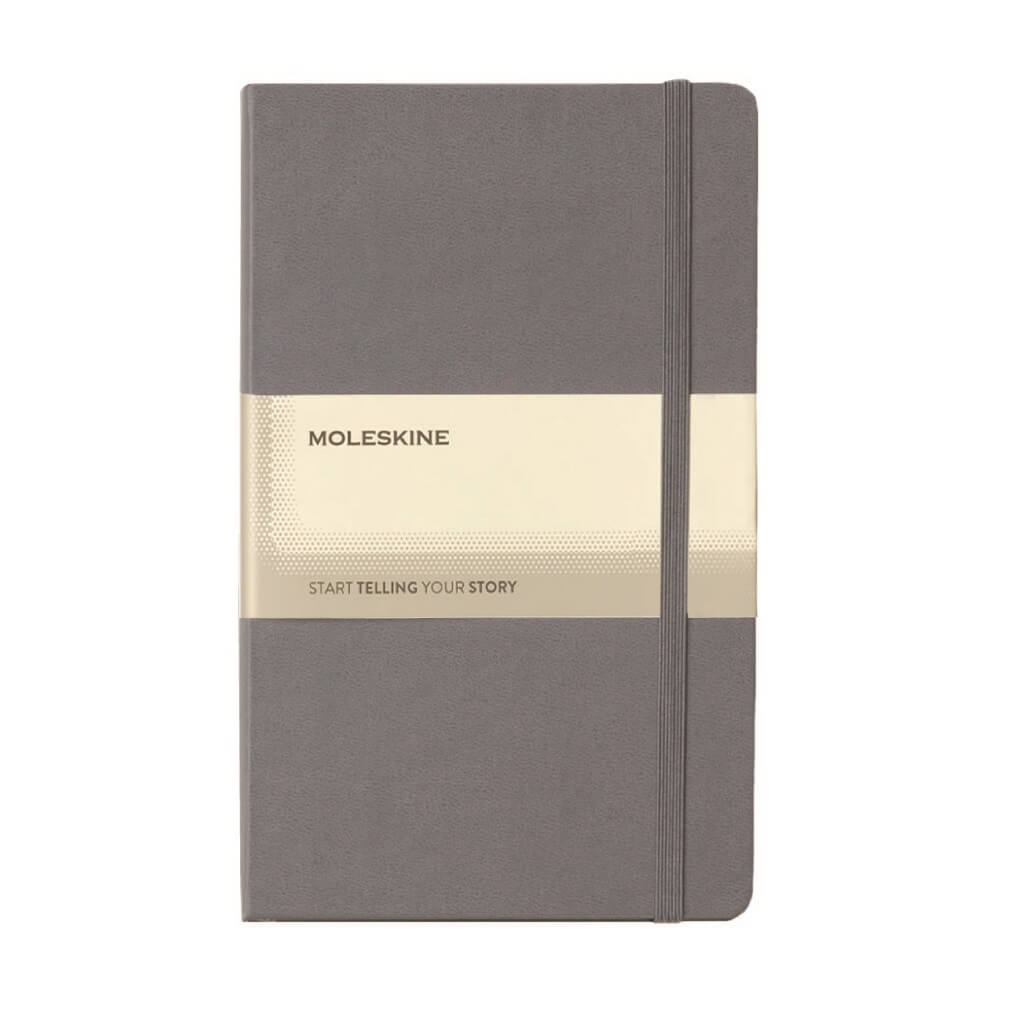 Moleskine Classic Hard Cover Large Ruled Notebook - Slate Grey