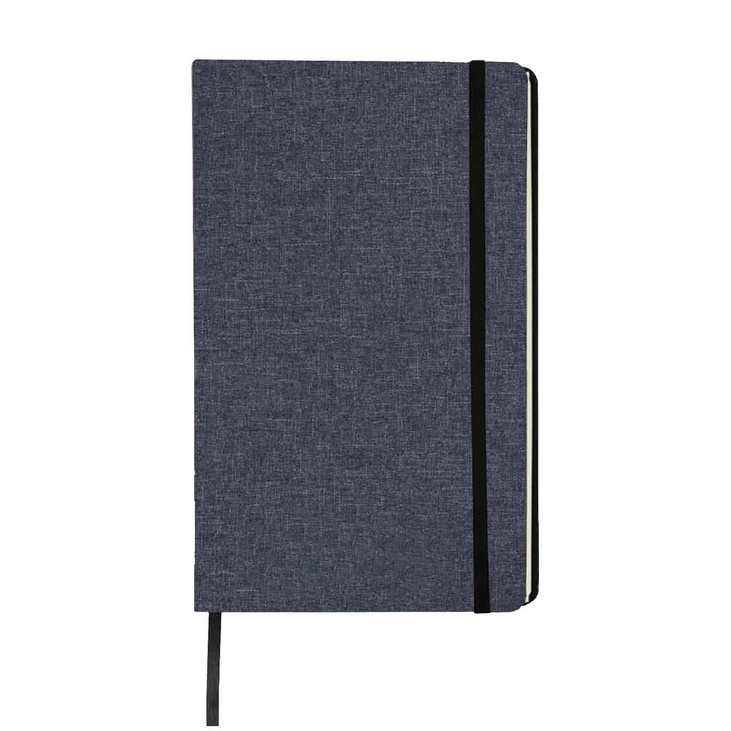 Giftology A5 Fabric cover Notebook (Navy Blue)