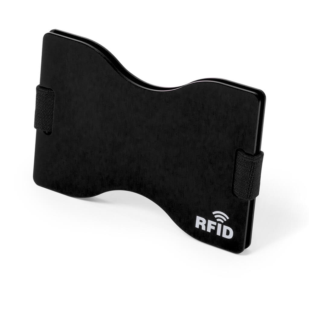 Card Holder With RFID Blocking Technology - Black