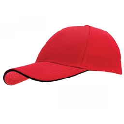 [SC 105 - Red / Black] SANTHOME Performance Sports Caps - Red / Black