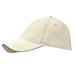 [SC 105 - Cream/Black] SANTHOME Performance Sports Caps - Cream / Black