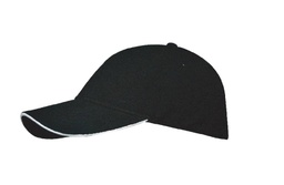 [SC 105 - Black/White] SANTHOME Performance Sports Caps - Black / White