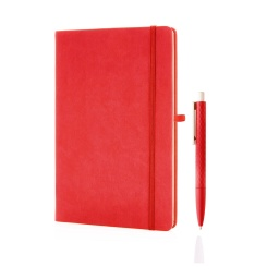 [GSGL 203] LIBELLET Giftology A5 Notebook With Pen Set (Red)